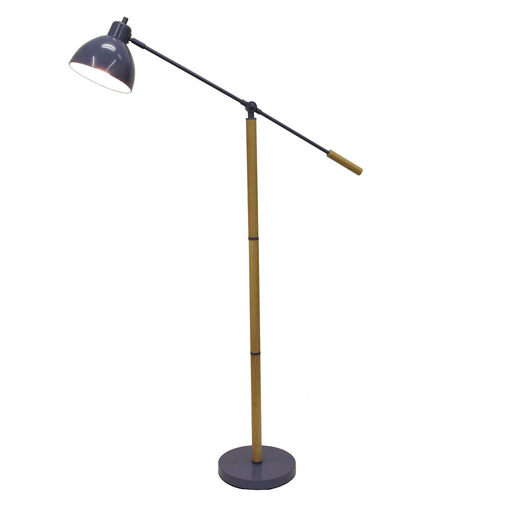 Decor Therapy Adjustable Metal Floor Lamp