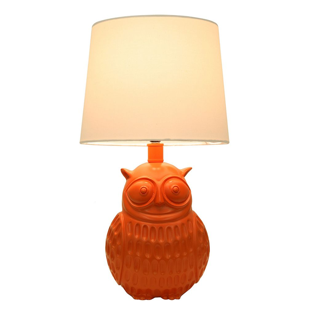 Decor Therapy Owl Table Lamp