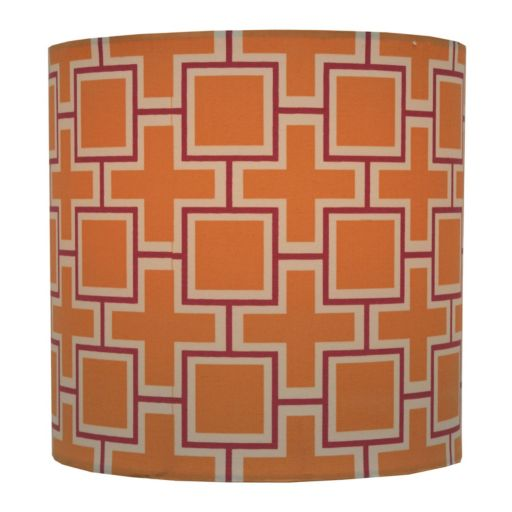 Decor Therapy Geometric Drum Lamp Shade