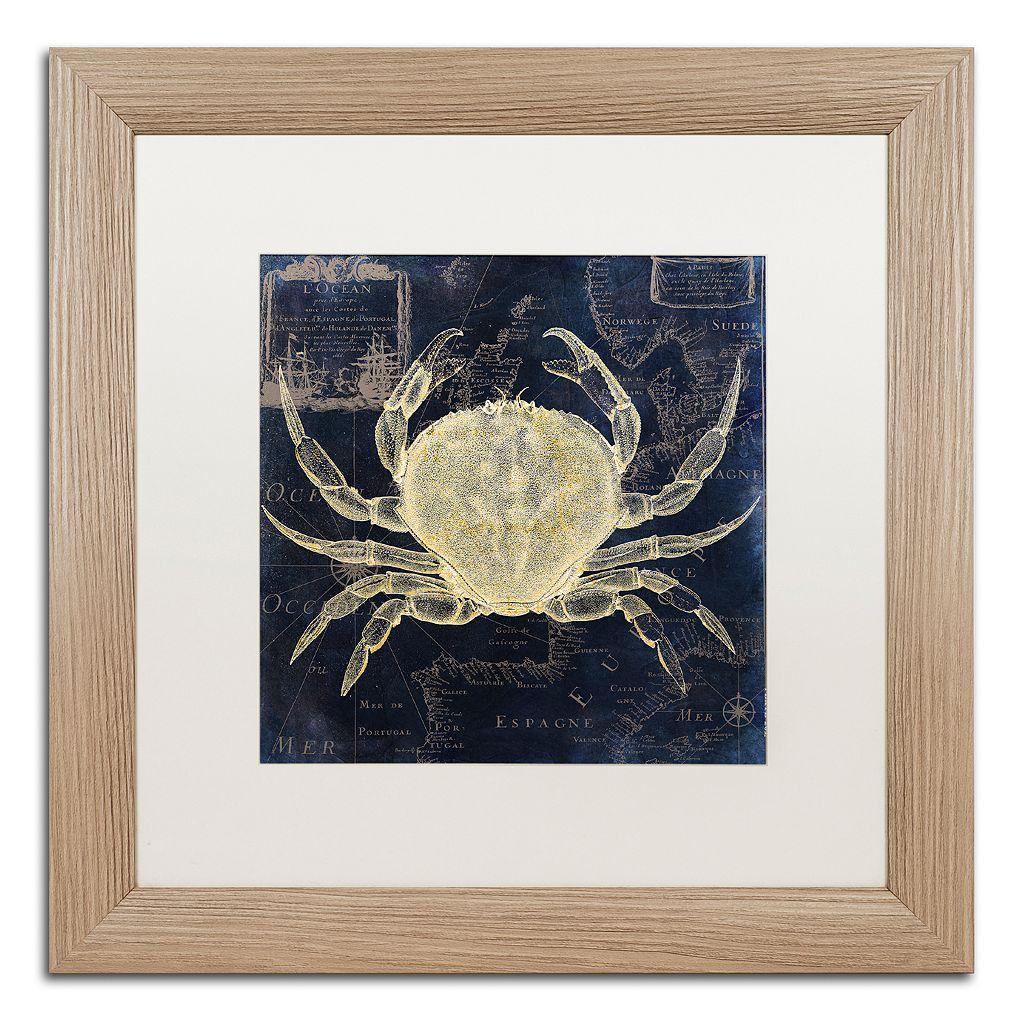 Trademark Fine Art Maritime Blues III Washed Finish Framed Wall Art