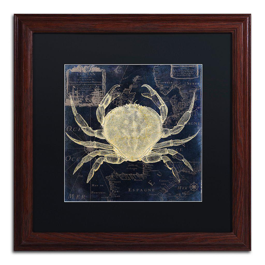 Trademark Fine Art Maritime Blues III Framed Wall Art