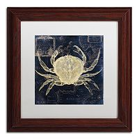 Trademark Fine Art Maritime Blues III Framed Wall Art