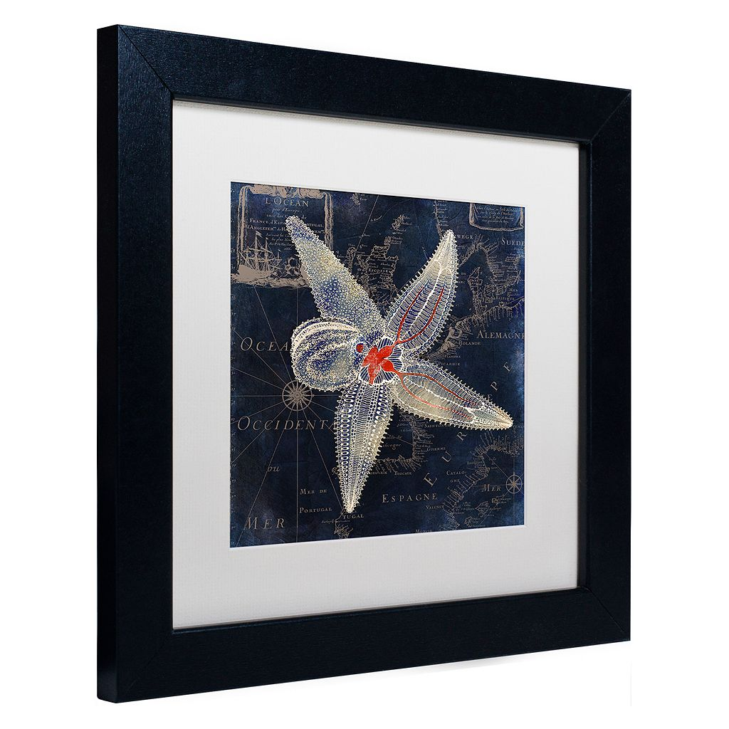Trademark Fine Art Maritime Blues IV Black Framed Wall Art