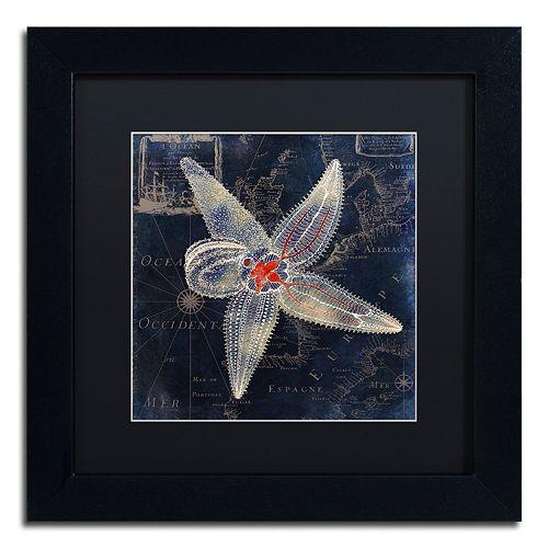 Trademark Fine Art Maritime Blues IV Black Framed Wall Art