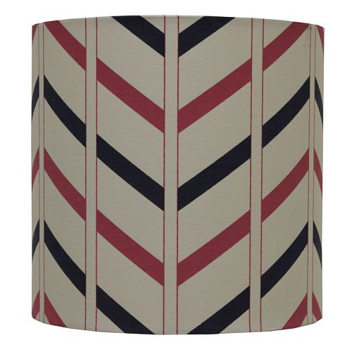 Decor therapy chevron drum lamp shade aloadofball Choice Image