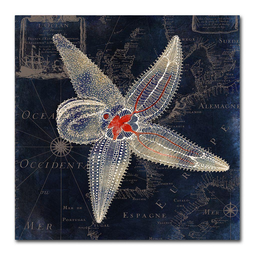 Trademark Fine Art Maritime Blues IV Canvas Wall Art
