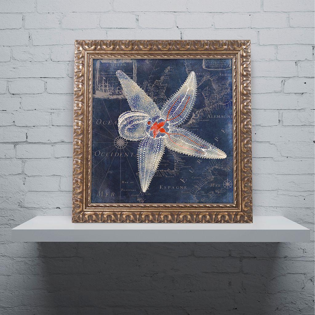 Trademark Fine Art Maritime Blues IV Ornate Framed Wall Art