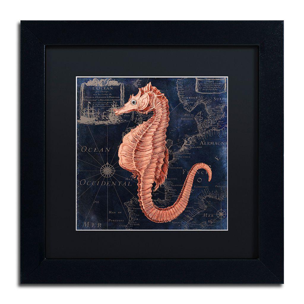 Trademark Fine Art Maritime Blues I Black Framed Wall Art