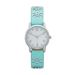 Women's Floral Perforated Watch