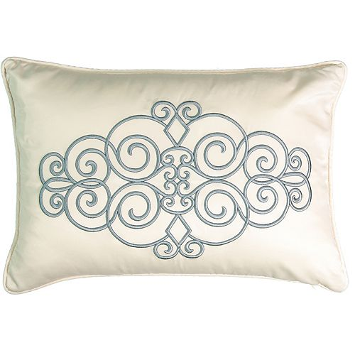 Beautyrest Avignon Embroidered Throw Pillow