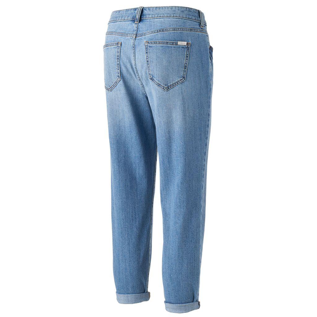 Women's Jennifer Lopez Faded Boyfriend Jeans