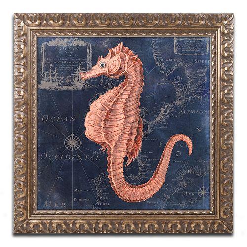 Trademark Fine Art Maritime Blues I Ornate Framed Wall Art