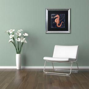Trademark Fine Art Maritime Blues I Silver Finish Framed Wall Art