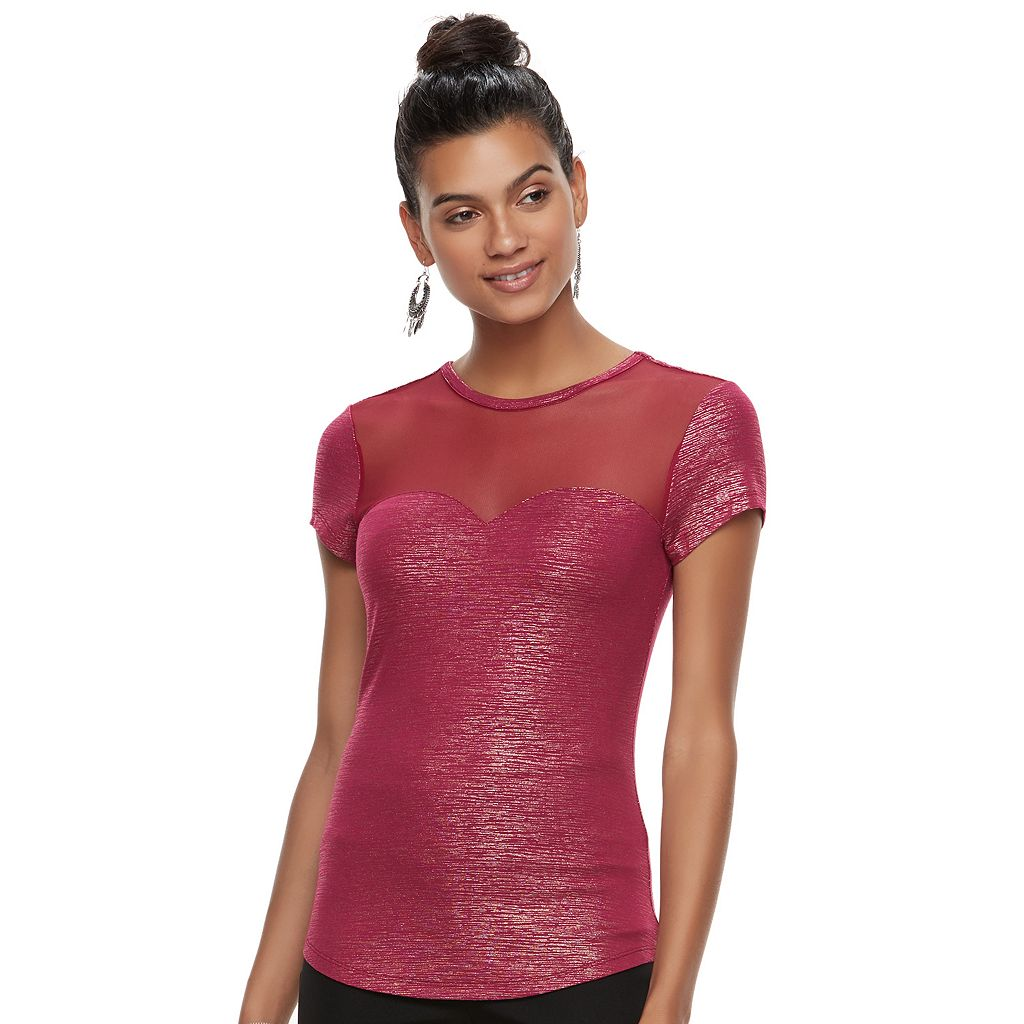 Juniors' Candie's® Illusion Sweetheart Tee