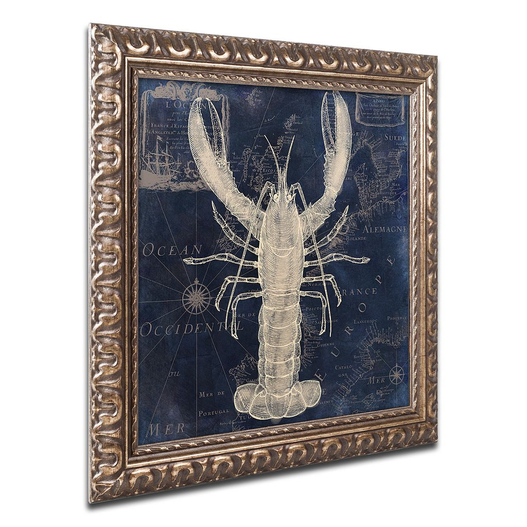 Trademark Fine Art Maritime Blues II Ornate Framed Wall Art