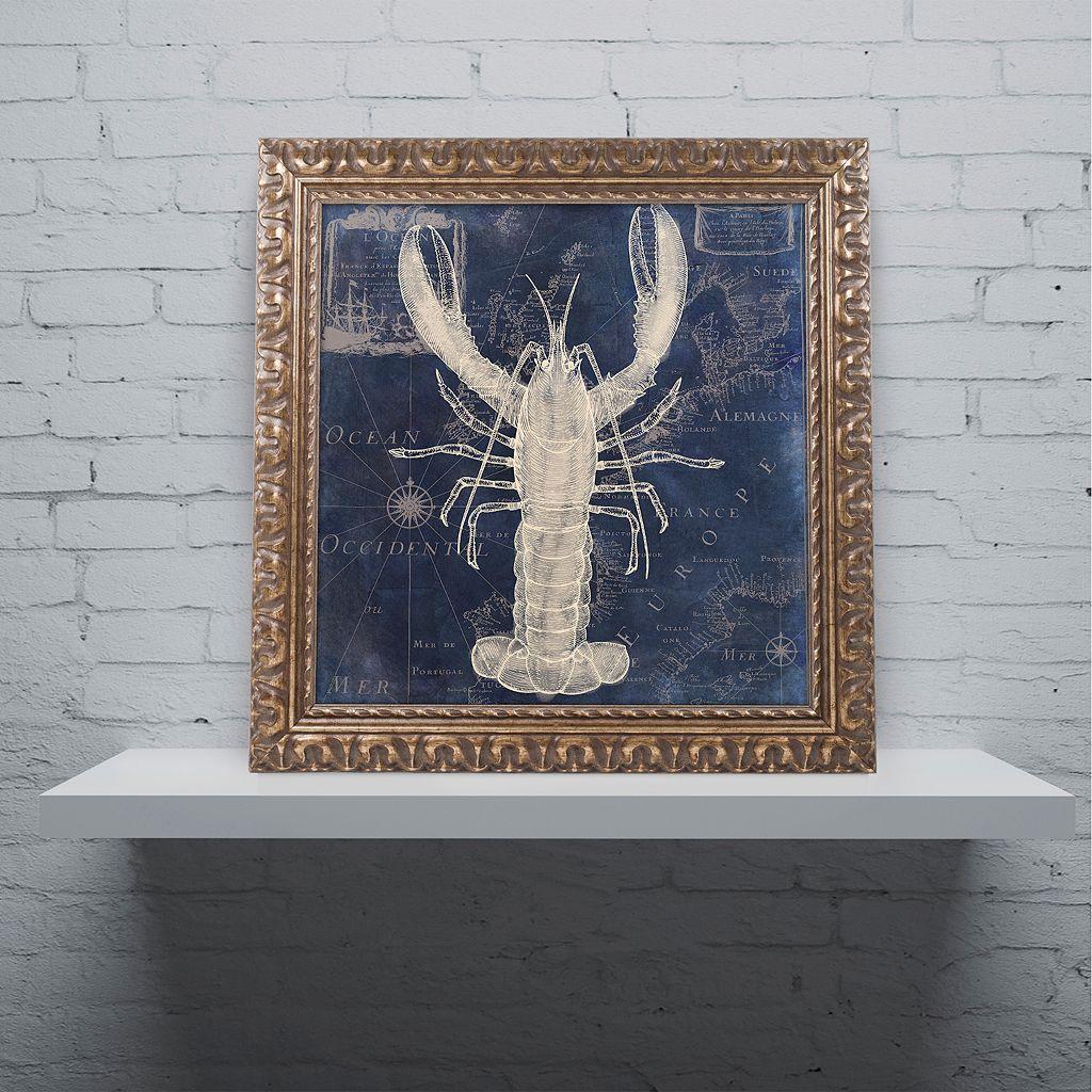 Trademark Fine Art Maritime Blues II Ornate Framed Wall Art