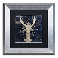 Trademark Fine Art Maritime Blues II Silver Finish Framed Wall Art