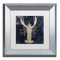 Trademark Fine Art Maritime Blues II Silver Finish Framed Wall Art