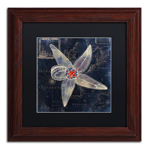 Trademark Fine Art Maritime Blues IV Framed Wall Art