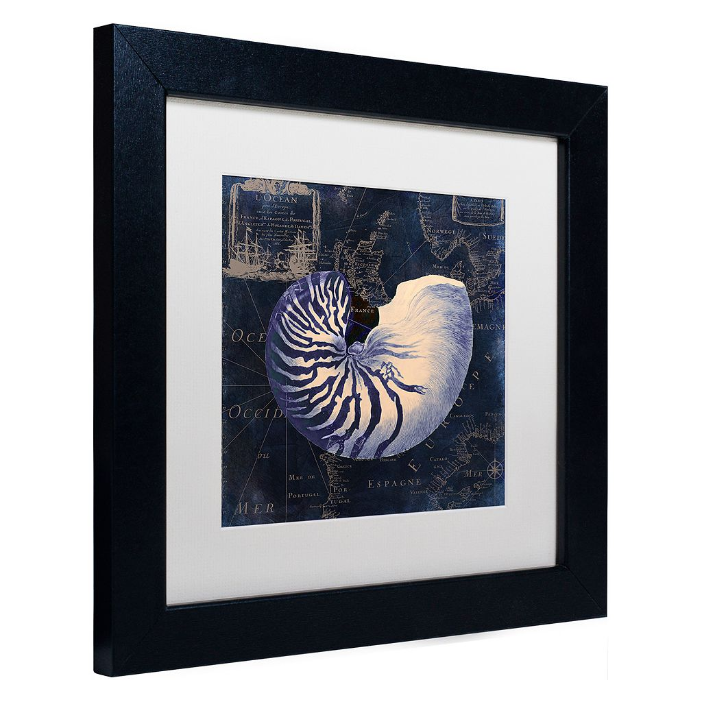 Trademark Fine Art Maritime Blues V Black Framed Wall Art