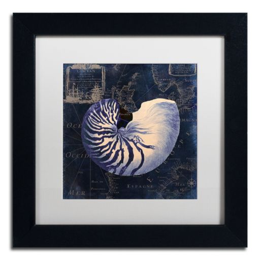Trademark Fine Art Maritime Blues V Black Framed Wall Art