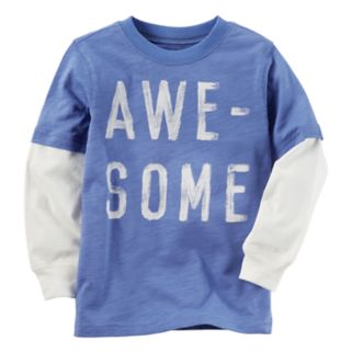 "Boys 4-8 Carter's ""Awe-Some"" Mock Layer Graphic Tee"