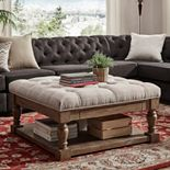 HomeVance Button Tufted Upholstered Coffee Table