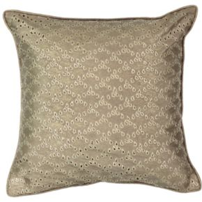 Beauty Rest Sandrine Eyelet Throw Pillow
