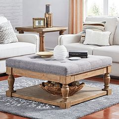 HomeVance Tufted Storage Coffee Table