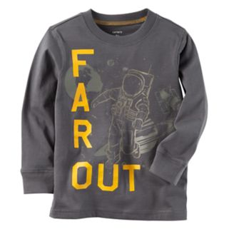 """Boys 4-8 Carter's """"Far Out"""" Astronaut Space Graphic Tee"""