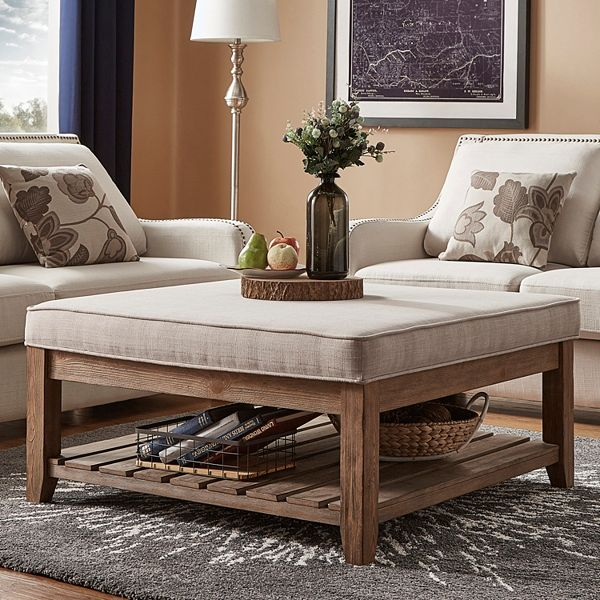 HomeVance Upholstered Coffee Table