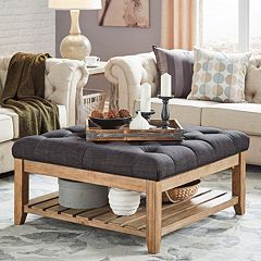 HomeVance Tufted Upholstered Coffee Table