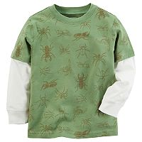 Boys 4-7x Carter's Bugs Mock-Layer Tee