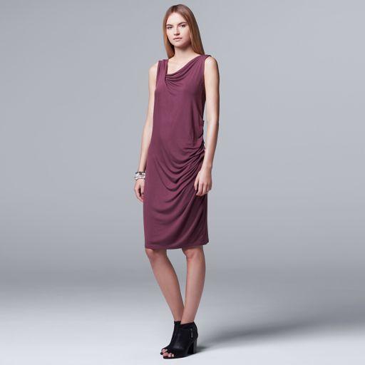 Women's Simply Vera Vera Wang Draped Asymmetrical Sheath Dress