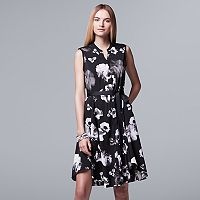 Women's Simply Vera Vera Wang Floral Shirtdress