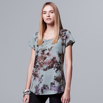 Women's Simply Vera Vera Wang Embellished Floral Tee