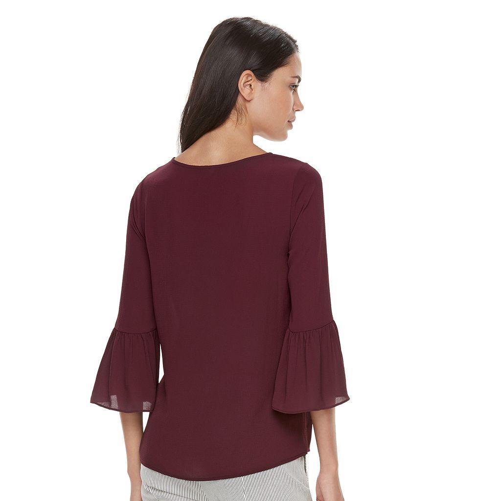 Women's ELLE™ Ruffle Bell-Sleeve Top