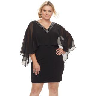 Plus Size Chaya Embellished Popover Shift Dress