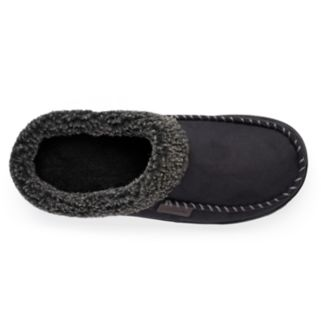 Dearfoams Men's Microsuede Whipstitch Clog Slippers