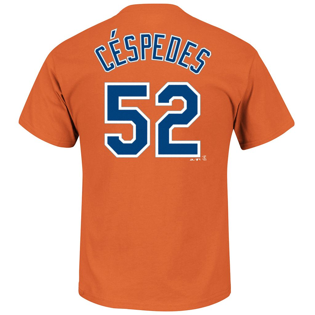 Men's Majestic New York Mets Yoenis Cespedes Name and Number Tee