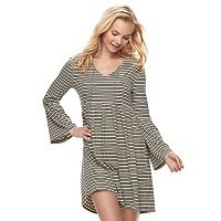 Juniors' Love, Fire Ribbed Tie Front Dress