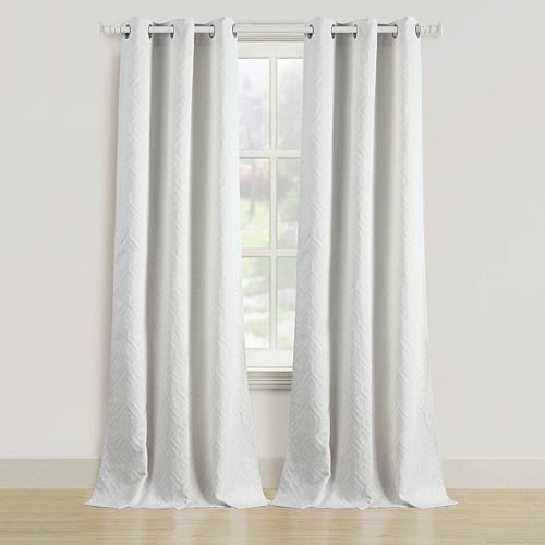 Beatrice Home Fashions 2-pack Empire Window Curtains