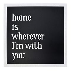 New View 'Home is Wherever I'm With You' Framed Wall Art