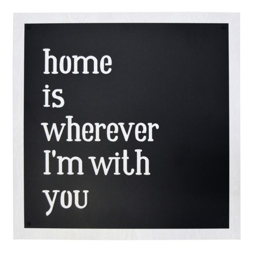"""New View """"Home is Wherever I'm With You"""" Framed Wall Art"""