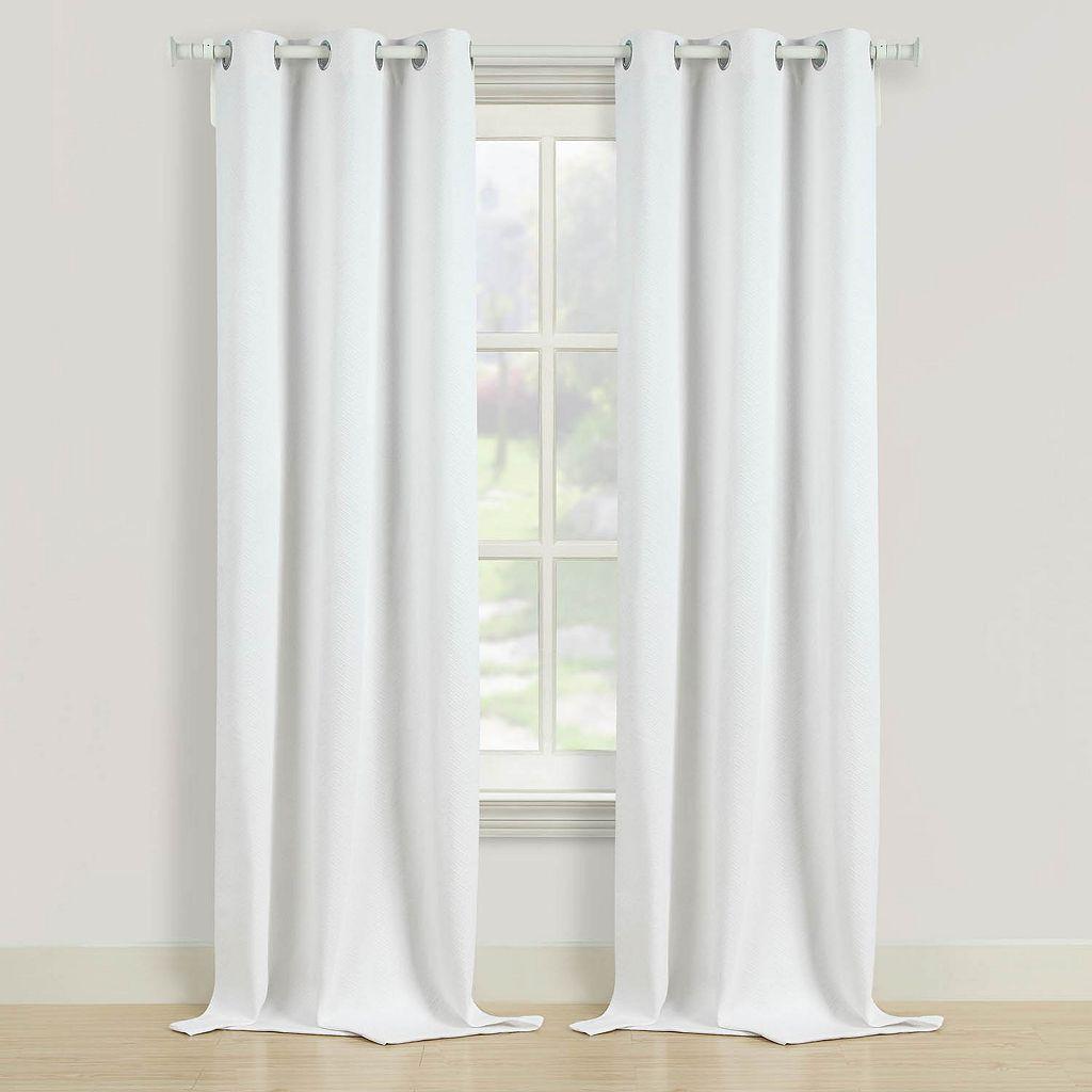 Beatrice Home Fashions 2-pack Herringbone Curtain