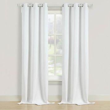 Beatrice Home Fashions 2-pack Herringbone Window Curtains