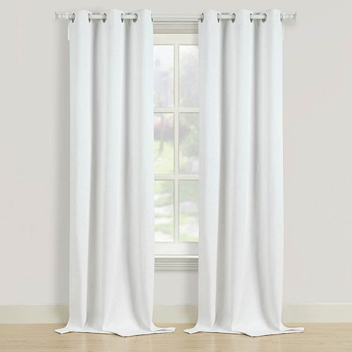 Beatrice Home Fashions 2-pack Herringbone Window Curtains