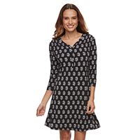 Petite Croft & Barrow® Printed Pullover Dress