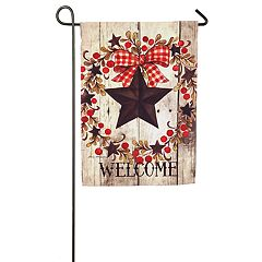 Evergreen 'Welcome' Star Indoor / Outdoor Garden Flag
