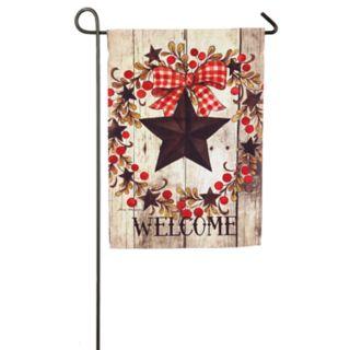 """Evergreen """"Welcome"""" Star Indoor / Outdoor Garden Flag"""